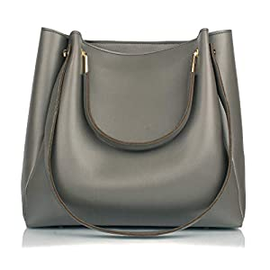 Mammon Women's Handbag (R-bib-Grey_Grey)