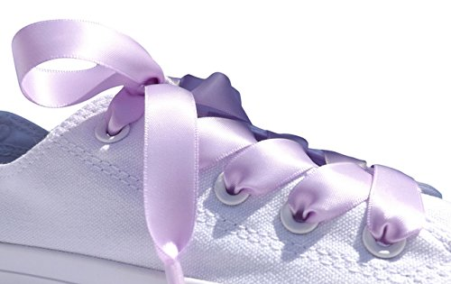 5a10819c50508a Title   Lilac Flat Satin Ribbon Shoelaces, Shoe Laces For Kids, Youths    Women s All Star Sneakers