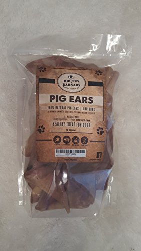 100-Natural-Whole-Pig-Ear-Dog-Treat-Brutus-Barnabys-Healthy-Pure-Pork-Ear-is-Easily-Digestible-with-no-Added-Colorings-Chemicals-or-Hormones
