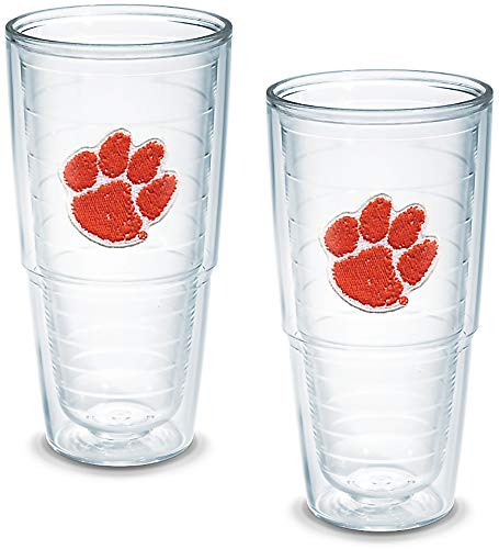 Tervis Tumbler Clemson University 24-Ounce Double Wall Insulated Tumbler, Set of 2 - 1006196