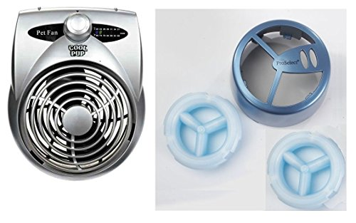 - Pro Select Complete Crate Fan Cooling System Set Dog Cage Attachment & 2 Refill Cold Packs