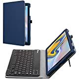 Fintie Folio Keyboard Case for Samsung Galaxy Tab A 10.5 2018 Model SM-T590/T595/T597 - Premium PU Leather Stand Cover with Removable Wireless Bluetooth Keyboard, Navy