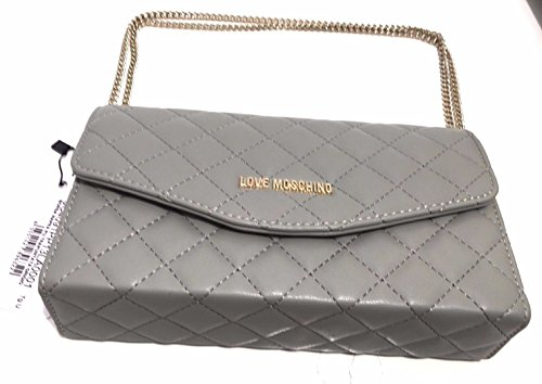 Love Moschino shoulder bag Nappa Pu quilted grey