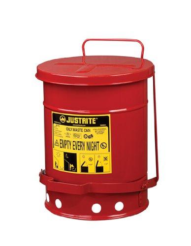 Justrite Oily Waste Can- 6 Gallon -