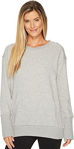 Reebok Women's Oversized Long Sleeve Tunic Medium Grey Heather X-Large (Reebok Sleeve Long)