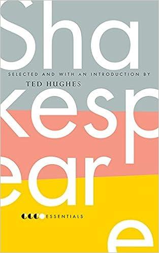 Essential shakespeare ted hughes 9780060887957 amazon books essential shakespeare fandeluxe Images