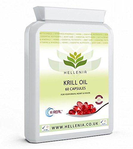 Hellenia K.Real® 100% Antarctic Krill Oil - 60 Capsules - Pure High Quality Product 500mg - Highest Purity - Lowest Sodium - 1 Month Supply