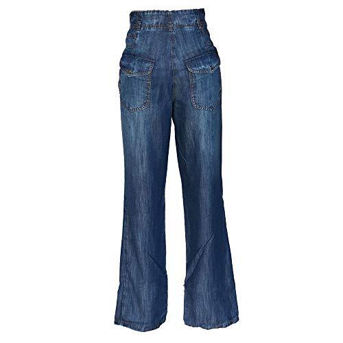 STEILMANN Bleu Droite Pantalon Bleu Femme Jambe rBOrwqf