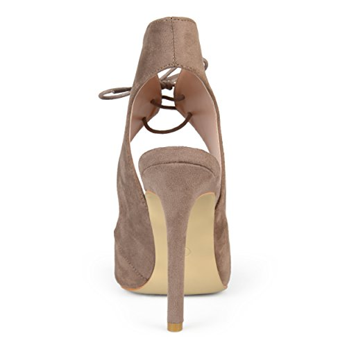 Open Taupe Toe Womens Lace Collection Heels Journee up High OwITzIq