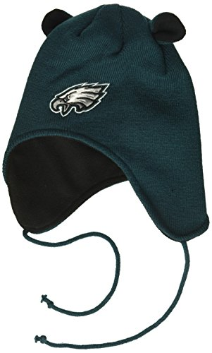 OTS NFL Philadelphia Eagles Toddler Scalywag Knit Cap with Ears, Team Color, Toddler