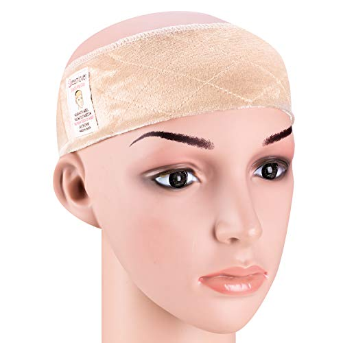 ig Grip Headband, Adjustable Thin Velour Wig Scarf Hat Grip Band, Perfect for Keeping Wigs from Slipping (Nude) ()