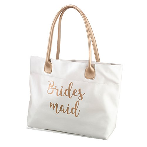 Lillian Rose Gold Bridesmaid Tote Bag]()