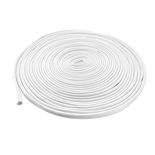 (uxcell PVC Marking Tube Sleeving White Wire Sleeve Pipe Organizer 4.5mm Inner Dia 15M Length for Cable Marker Machine)