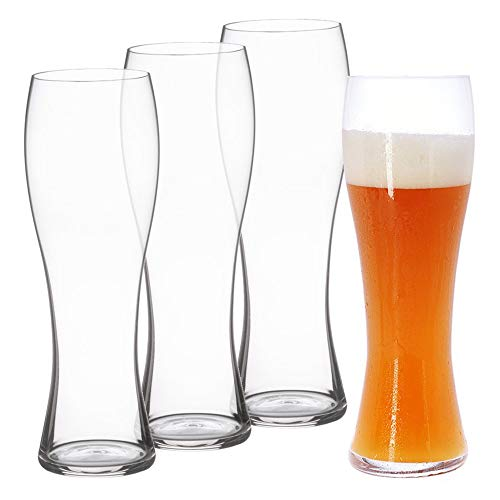 - Spiegelau 4991975 Classics Hefeweizen Beer Glasses (Set of 4), Clear