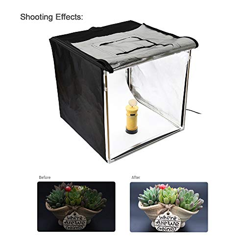 Godox LST80 808080cm LED Mini Photography Studio Shooting Tent Softbox with 3pcs LED Light Board 5800K CRI 96+ Power 60W for Macro and Product Photography with Andoer Cleaning Cloth by Godox (Image #1)