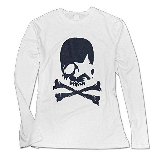 UanshanH Women's Round Neck Skull Pattern Tops Sexy Long Sleeve Blouse Shirt