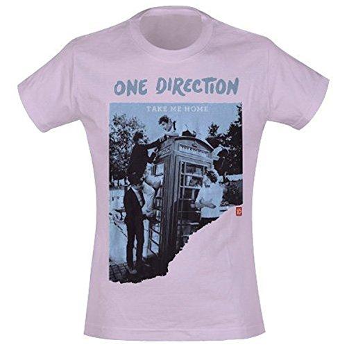 One Direction 1D Take Me Home Offizielles Damen Pink Skinny Fit T Shirt (L)