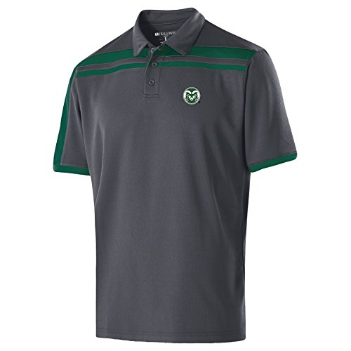 NCAA Colorado State Rams Men's Charge Polo, X-Large, (Rams Performance Team Polo)