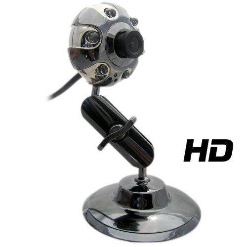🥇 Cámara Web Kinobo USB B3 HD con Soporte de Metal para XP/Vista/Windows 7/Skype + Mic USB y Luces LED