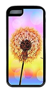 The Beauty Of The Dandelion Lovely Mobile Phone Protection Shell For iPhone 5c Cases - Unique Cool Black Soft Edge Case