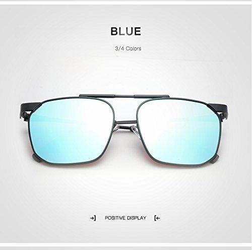 Marca Gafas Blue de Shishanyun Moda Gafas Unisex Mujeres con Hombre Diseñador Oculos Polarizado Hombres Cuadradas Gafas Retro la Mujer qtwx1xpB