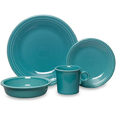 Click for Fiesta 16-Piece, Service for 4 Dinnerware Set, Turquoise
