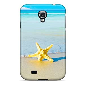 New Arrival Cover Case With Nice Design For Galaxy S4- Starfish On The Beach