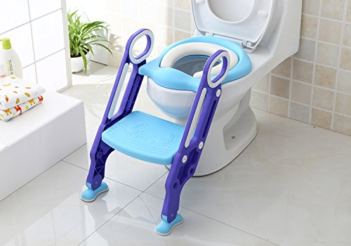 Iapetus Potty Toilet Training Seat with Step Stool Ladder for Kids and Babes, Portable Children's Toilet Seat Chair, Comfortable, Safe, Sturdy, Excellent Potty Seat Trainer for Boys and Girls