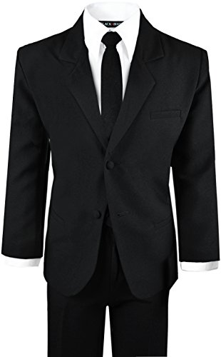 Boys Black Tuxedo Suit with Tie Young Boys Youth Size 6