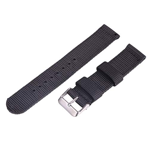 Bornbayb Solid Color Premium Nylon Nato Watch Straps Canvas Fabric Watch Band (Width: 18mm, 20mm, 22mm, 24mm) by Bornbayb (Image #1)