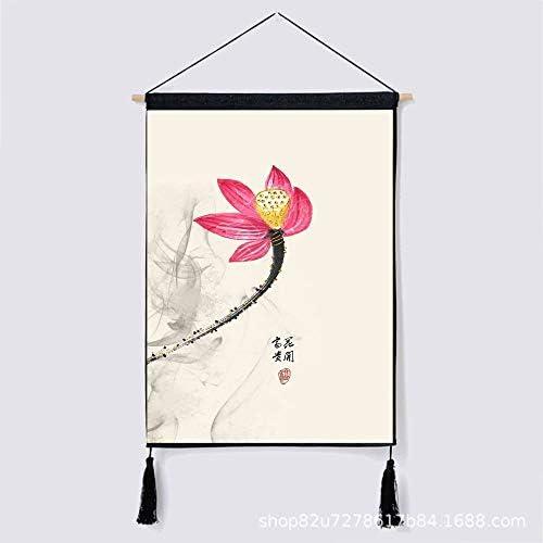 mmzki Tapiz de Viento Chino Tela Colgante de Pared Deseo auspicioso algodón Lino Arte algodón Colgante Pintura CC 46 * 65 cm: Amazon.es: Hogar