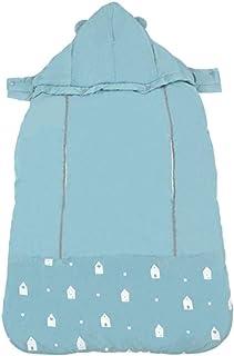 szseven Baby Carrier Strap Mantello Caldo Autunno Inverno Addensato Coperta Neonato Vettore Universale con Cappuccio Antivento per Passeggino Blue
