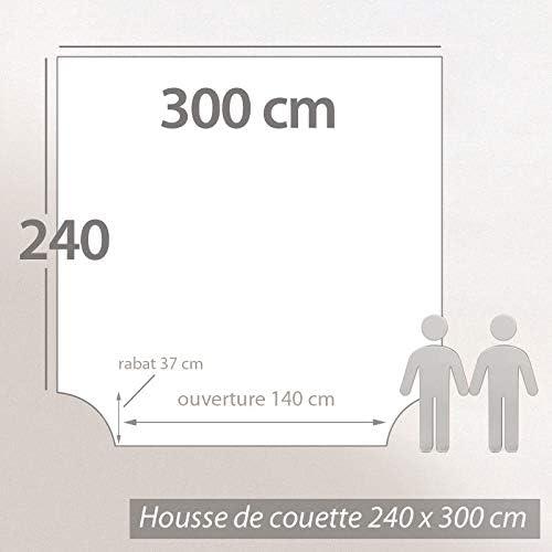 Linnea Housse de Couette 300x240 cm 100/% Coton Vermont Gris