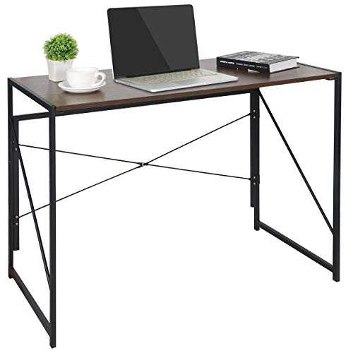 ZenStyle Writing Computer Desk Home Office PC Laptop Folding Tables Multipurpose Workstation with Solid Steel Frame/Waterproof Desktop from ZenStyle