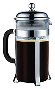 SterlingPro French Press  8 Cup (1 liter, 34 oz)--with 304 Grade Stainless Steel & Heat-Resistant Borosilicate Glass--2 Free Bonus Stainless Steel Screen in Package