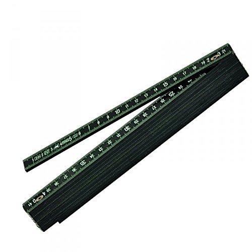 18030 Metrica Glasfaser-Massstab 2 m schwarz