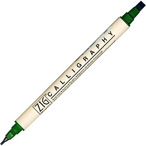 Zig Memory System Calligraphy Marker Pure Green by Zig ()