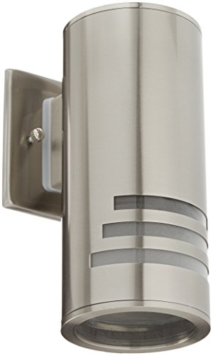 Artcraft Lighting Nuevo Outdoor Wall Mount, Stainless Steel (Steel Halogen Sconce)