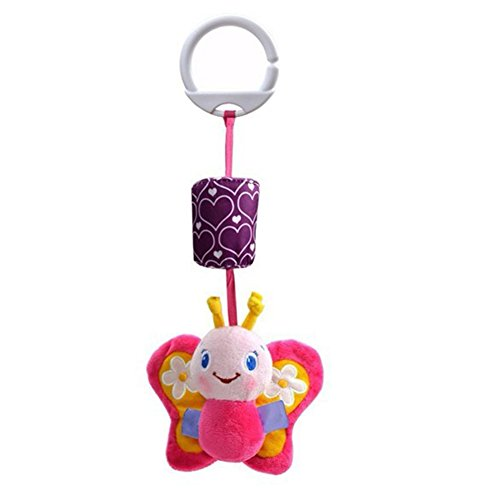 Butterfly Iron Toddler Baby Pram Hanging Toys Newborns Crib Stroller Car Seat Hanging Bell (Butterfly Cot)