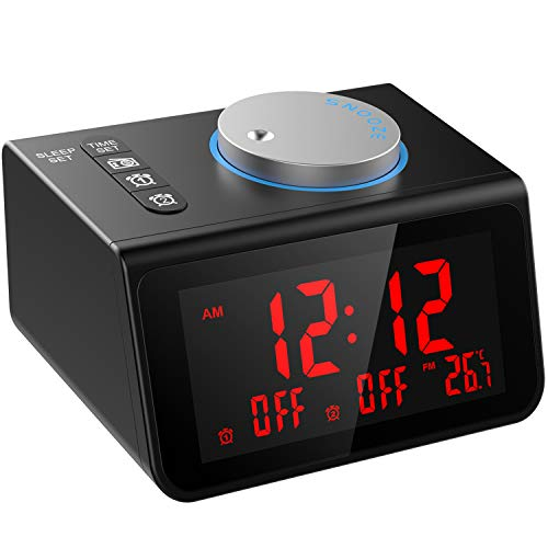 LATME-Alarm-Clock-Radio-for-Heavy-Sleepers W Dual Alarms3.2''
