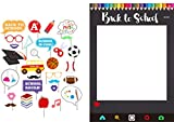 7-gost Back To School Party Photo Booth Props First Day of School With Photo Frame(Pack of 30)