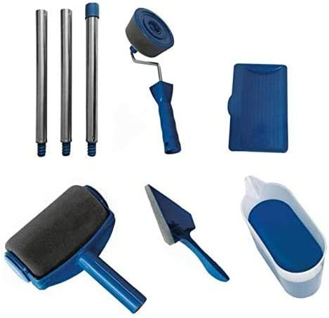 Lifreer Juego de 8 rodillos de pintura multifuncionales para uso dom/éstico mango f/ácil de usar para decoraci/ón de pared