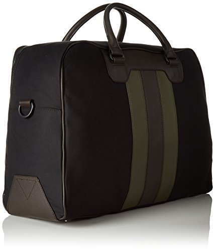 Tommy Hilfiger Stripe Story Duffle - Bolso con asas Hombre Multicolor - Mehrfarbig (Black/Military Green 902 902)