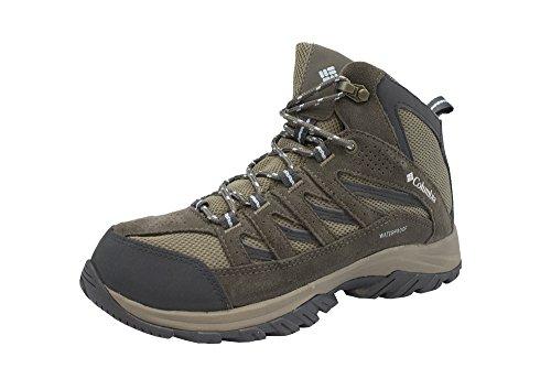 Columbia Women's Crestwood Mid Waterproof Hiking Boot, Pebble, Oxygen, 6.5 Regular US by Columbia