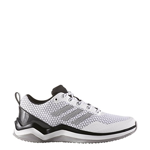 Adidas Men's Freak X Carbon Mid Baseball Shoe, Core Black, Silver Met, FTWR White, 9.5 M US