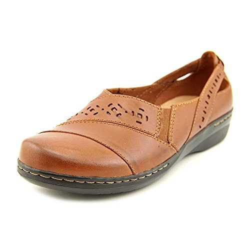 kunsto womens leather loafer shoes slip on us size 75