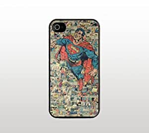 Retro Superman Comic iPhone 5 5s Case - Cool Black Plastic Snap-On Cover - Comic Book Design by icecream design