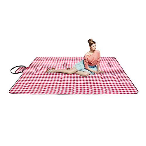 FYL Extra Large Proof Beach Picnic & Outdoor Blanket with Waterproof Backing-80 90