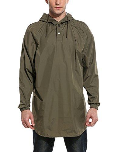COOFANDY Lightweight Hooded Rain Jacket Coat Packable Rain Poncho Outdoor Windbreaker for cheap 8P9oDCJO