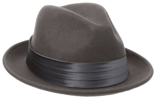 (Stacy Adams Men's Crushable Fedora, Grey,)